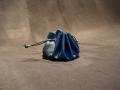 Les Cuirs de Lune - Escarcelle bleu roi