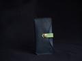 Les Cuirs de Lune - Etui à portable XS marine vert pomme