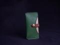 Les Cuirs de Lune - Etui à portable XS vert pré brun