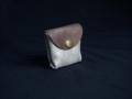 Les Cuirs de Lune - Mini porte-monnaie beige pailleté cuivré
