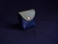 Les Cuirs de Lune - Mini porte-monnaie bleu nuit vert olive