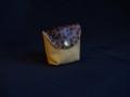 Les Cuirs de Lune - Mini porte-monnaie marron glacé panthère poilue