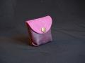 Les Cuirs de Lune - Mini porte-monnaie violet rose fuschia