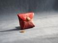 Mini porte-monnaie bordeaux, rouge