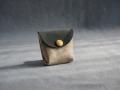 Mini porte-monnaie gris pailleté, marine