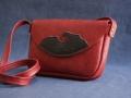 Les Cuirs de Lune - Minisac Vague rouge noir