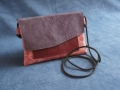 Pochette Home rose mauve lie de vin