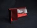 Les Cuirs de Lune - ensemble porte-monnaie, porte carte bordeaux rouge