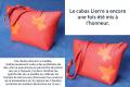 Les Cuirs de Lune Cabas Lierre Modifié Bandoulière rouge orange