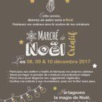 Affiche Marché de Noël Créatif & Participatif de Couleurs d'Ici